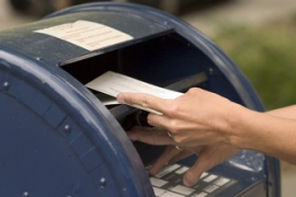 Mailing a letter (image from bigstock photo)