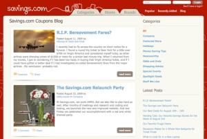 savings.com coupon blog-screenshot
