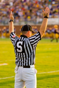 referee signaling a touchdown- image by bigstockphoto