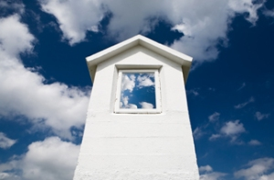 sky in window (Big Stock Photo image)