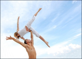 dancers (man lifting woman) Big Stock Photo
