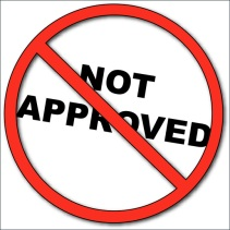 Not Approved sign (Big Stock Photo)