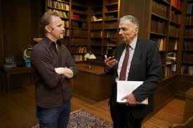 Movie still of Morgan Spurlock and Ralph Nader from Pom Wonderful Presents: The Greatest Movie Ever Sold