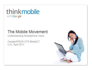 Cover shot to The Mobile Movement, a report by Google and IPSOS OTX Media CT